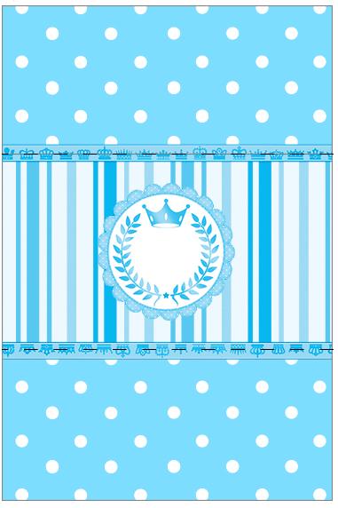 Bala Personalizada Realeza Azul