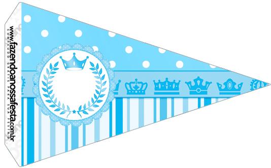 Bandeirinha Sanduiche 2 Realeza Azul
