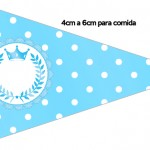Bandeirinha Sanduiche 5 Realeza Azul