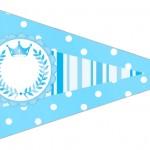 Bandeirinha Sanduiche 6 Realeza Azul