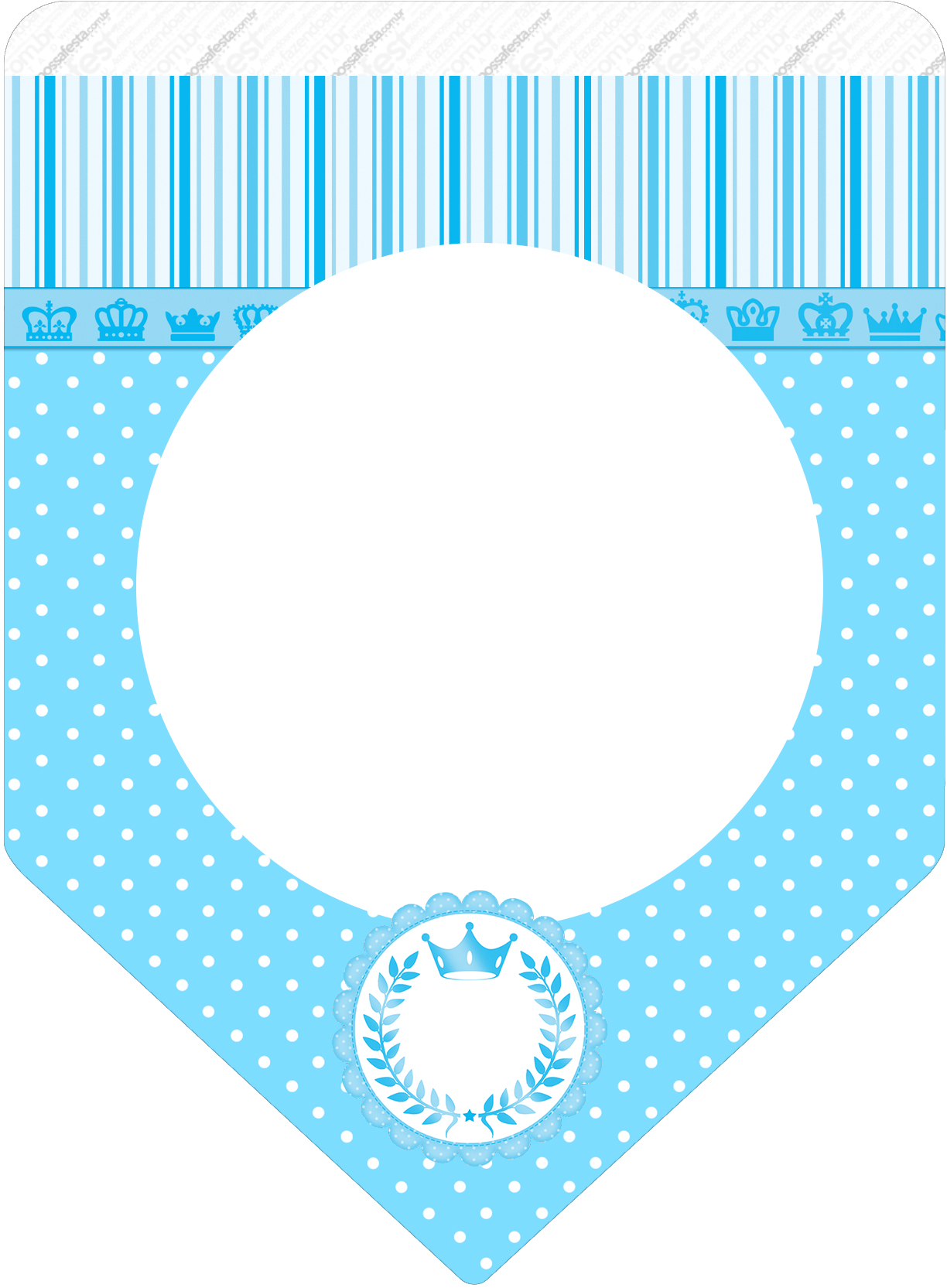 Bandeirinha Varalzinho Realeza Azul