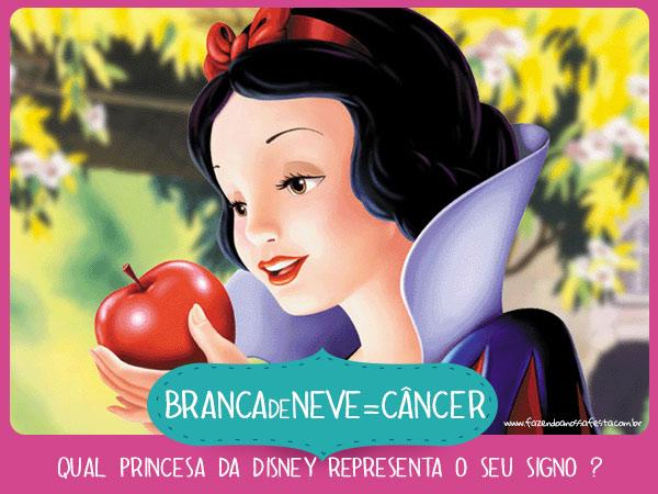 Branca de Neve de Cancer - Qual princesa da Disney representa o seu
