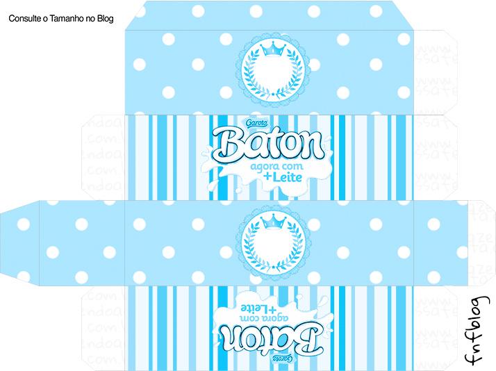 Caixa Baton Realeza Azul