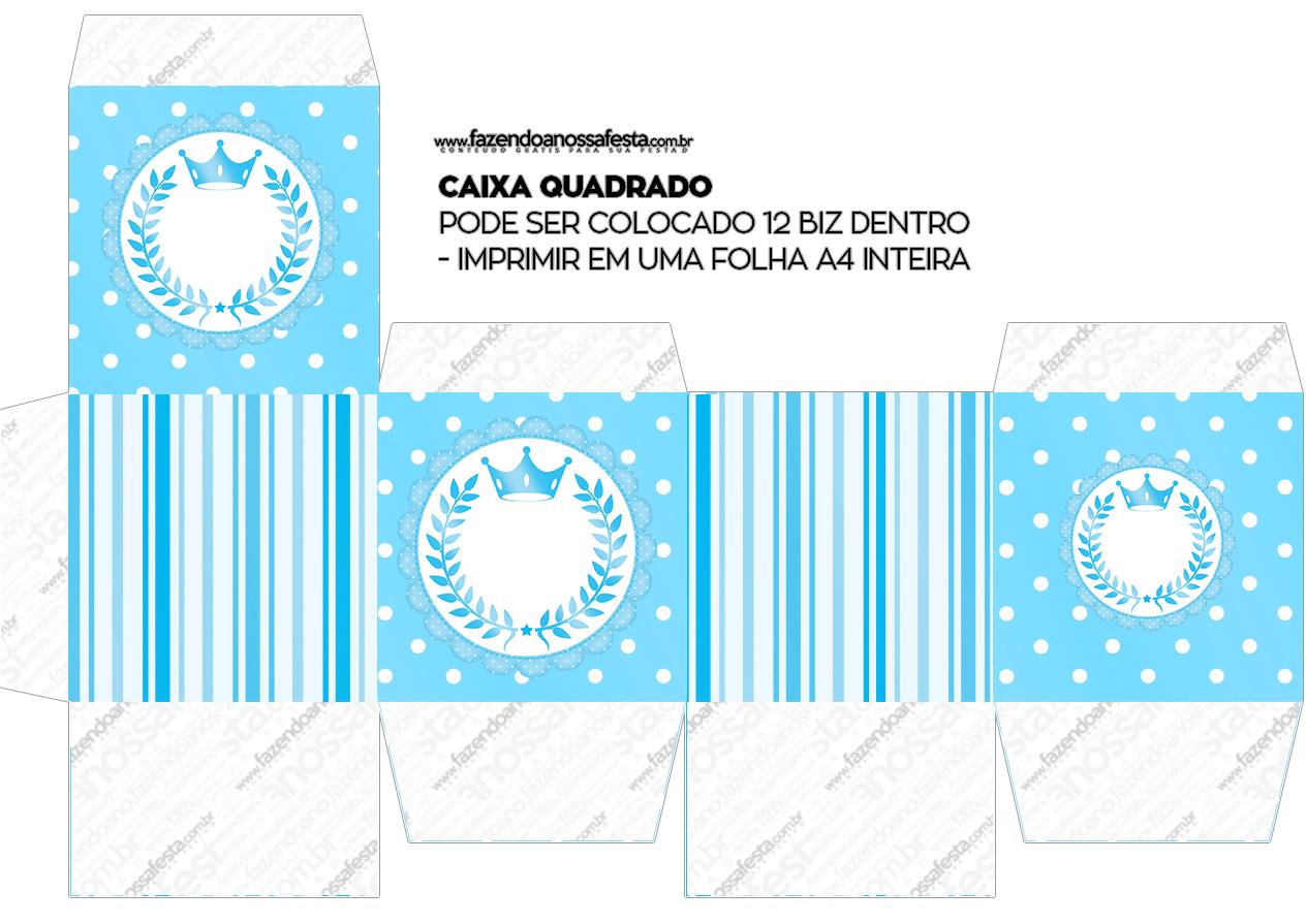Caixa Bis Realeza Azul