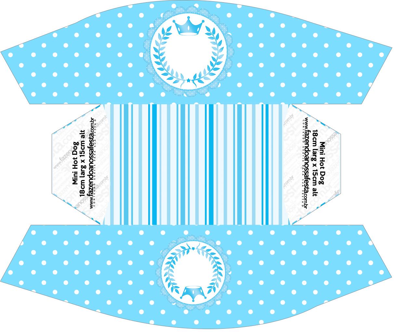 Caixa Cachorro-quente Realeza Azul