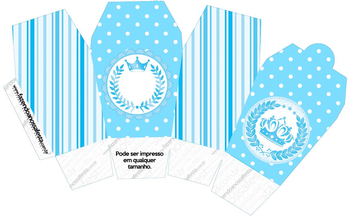 Caixa China in Box Realeza Azul
