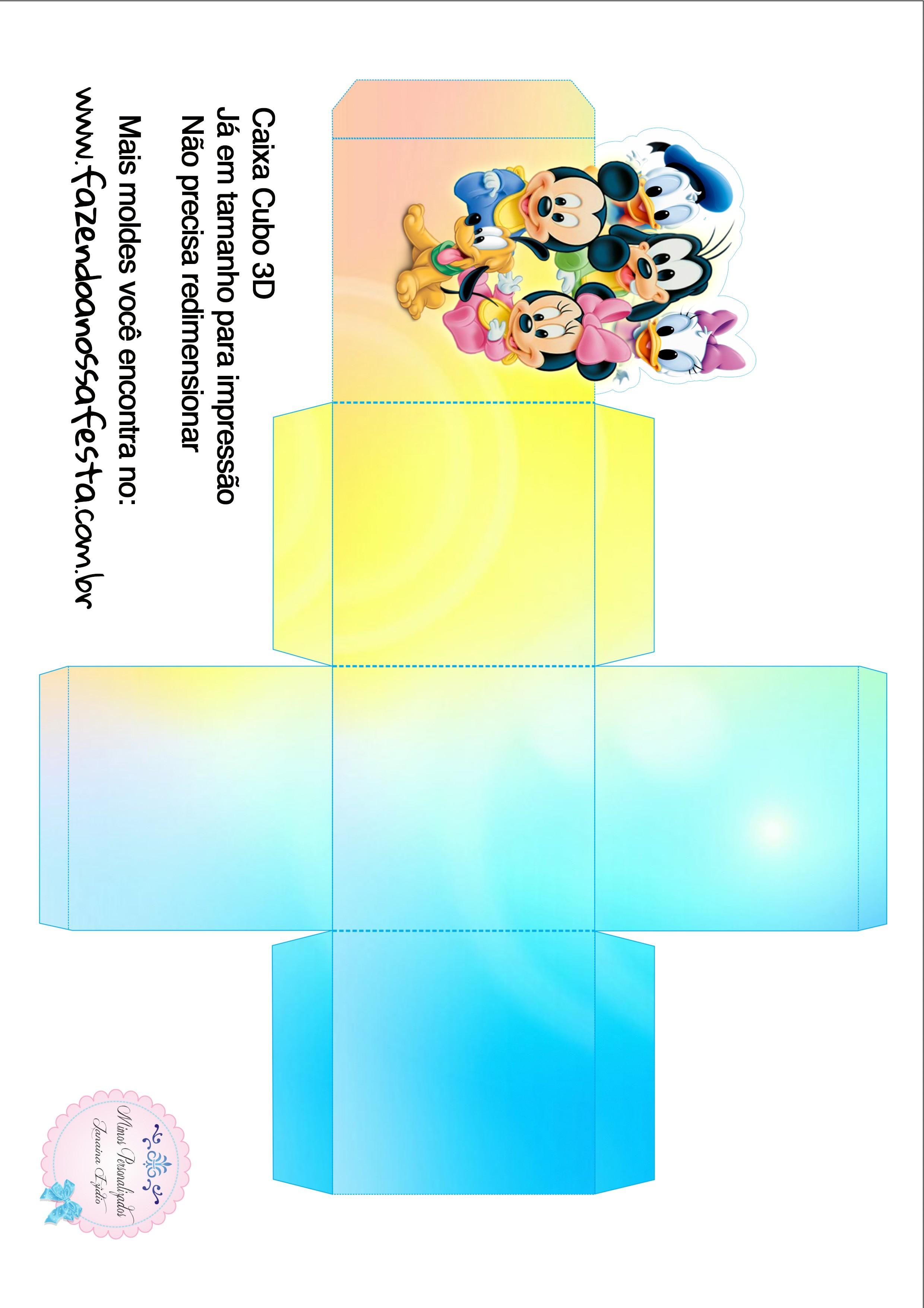 Caixa Cubo 3D Baby Disney