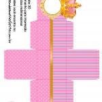Caixa Cubo 3D Coroa Princesa