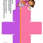 Caixa Cubo 3D Dora Aventureira