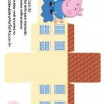 Caixa Cubo 3D George Pig
