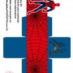 Caixa Cubo 3D Homem Aranha