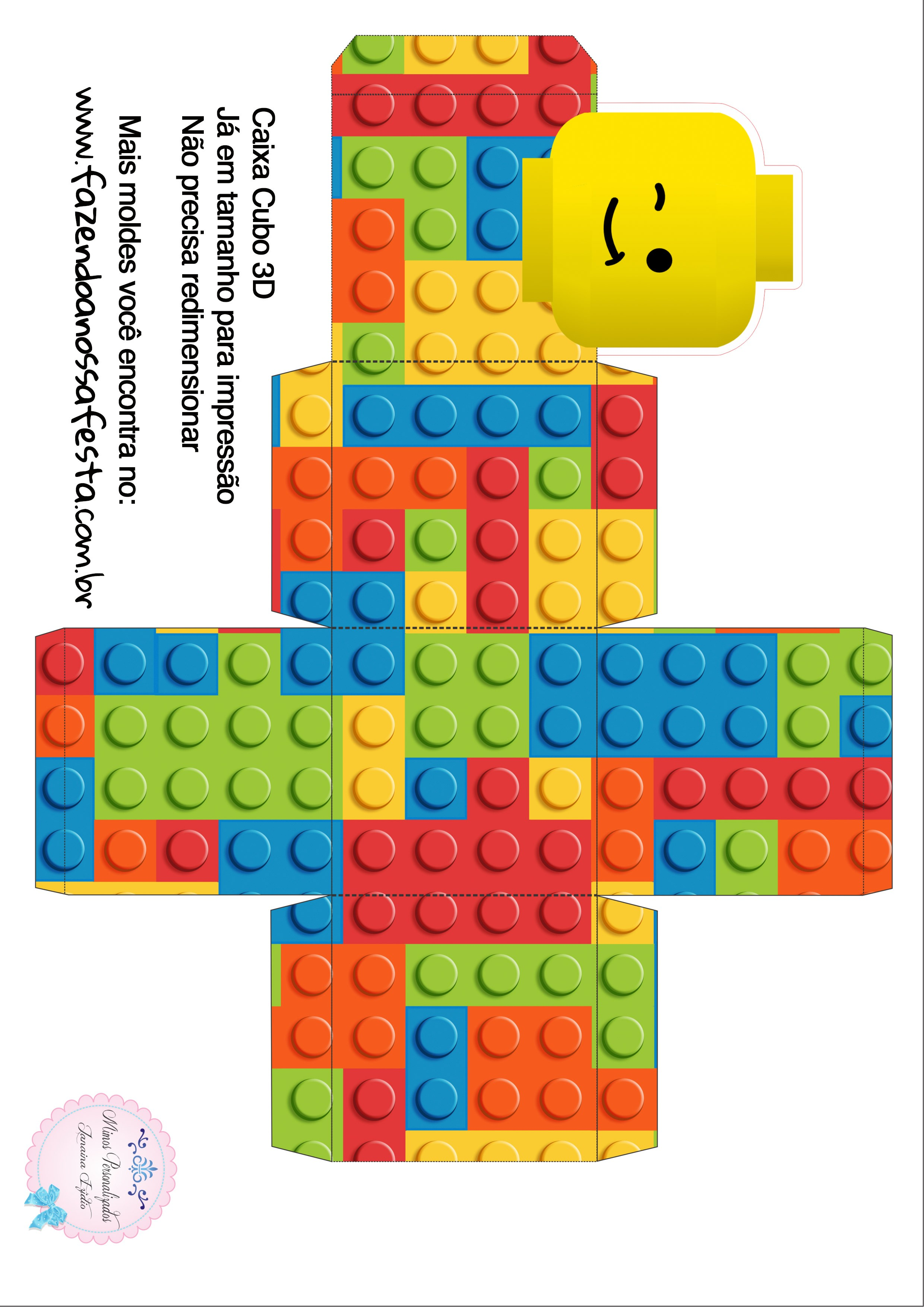 Caixa Cubo 3D Lego