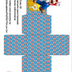 Caixa Cubo 3D Mario Bros