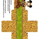 Caixa Cubo 3D Mickey Safari