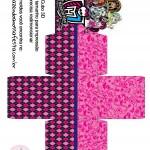 Caixa Cubo 3D Monster High