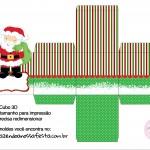 Caixa Cubo 3D Papai Noel