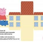 Caixa Cubo 3D Peppa Pig
