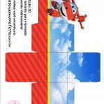 Caixa Cubo 3D Super Wings
