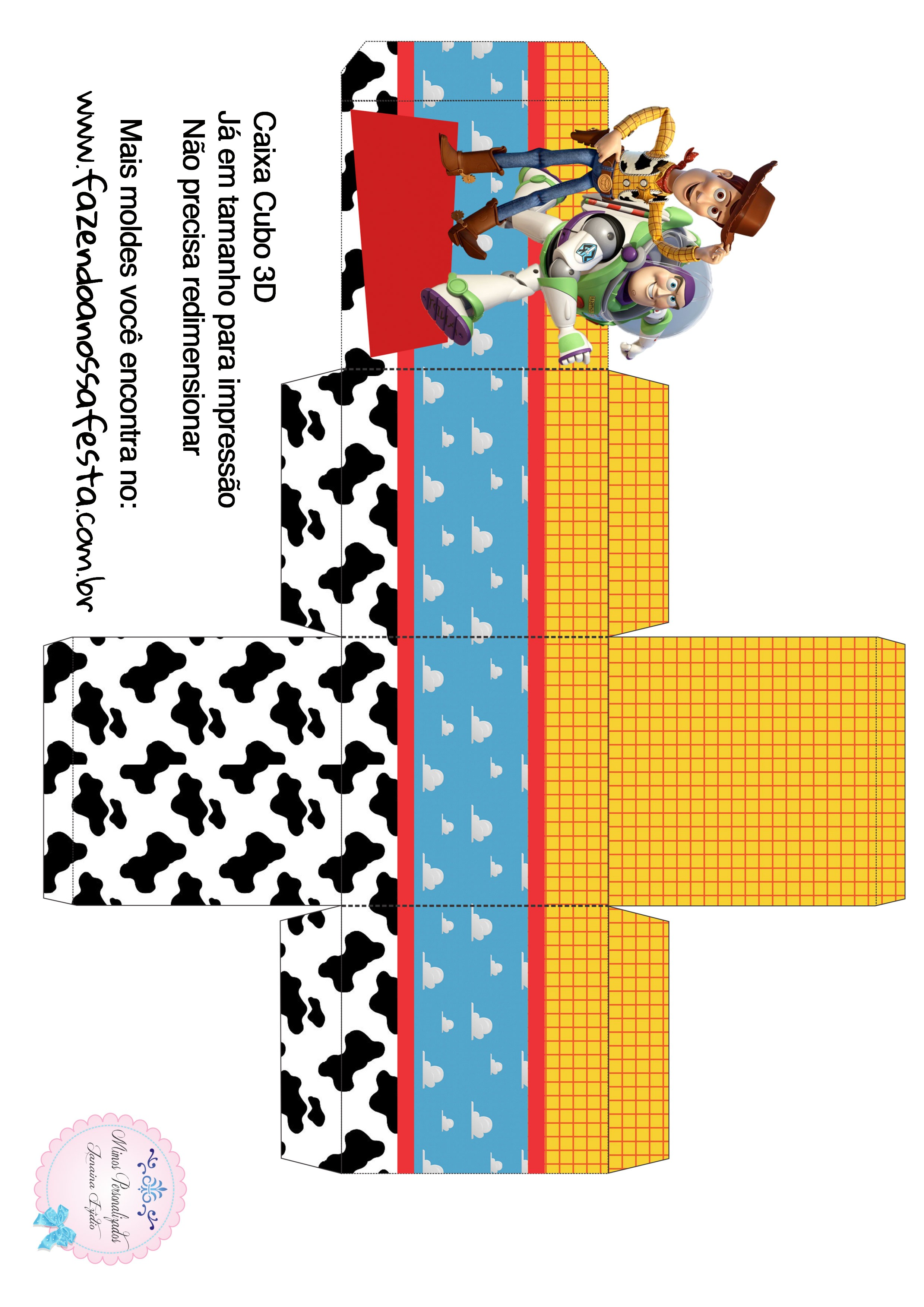 Caixa Cubo 3D Toy Story
