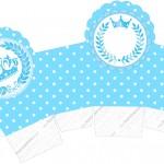 Caixa Cupcake Realeza Azul