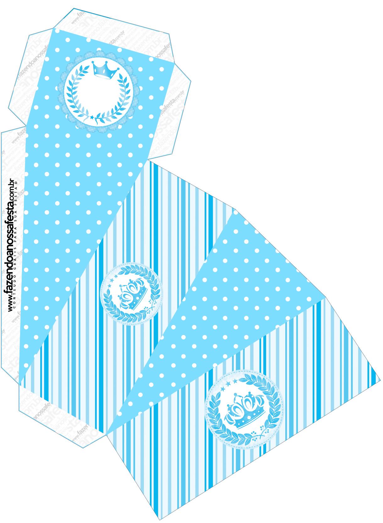 Caixa Fatia Realeza Azul