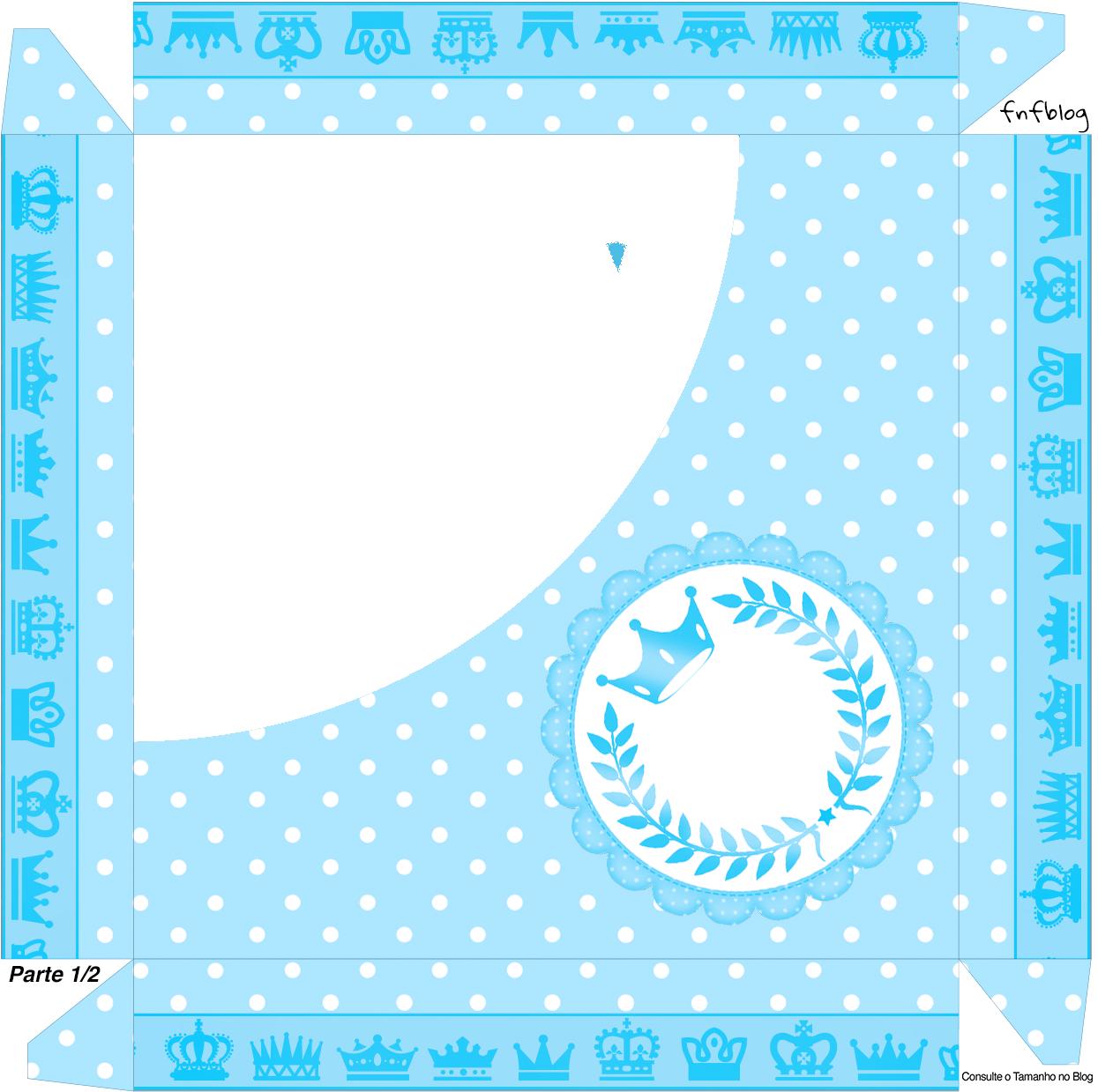 Caixa bombm Realeza Azul - Parte de cima