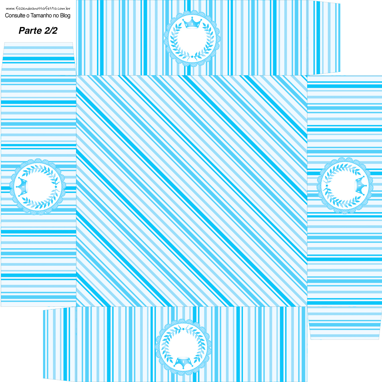 Caixa bombom Realeza Azul - Parte de baixo