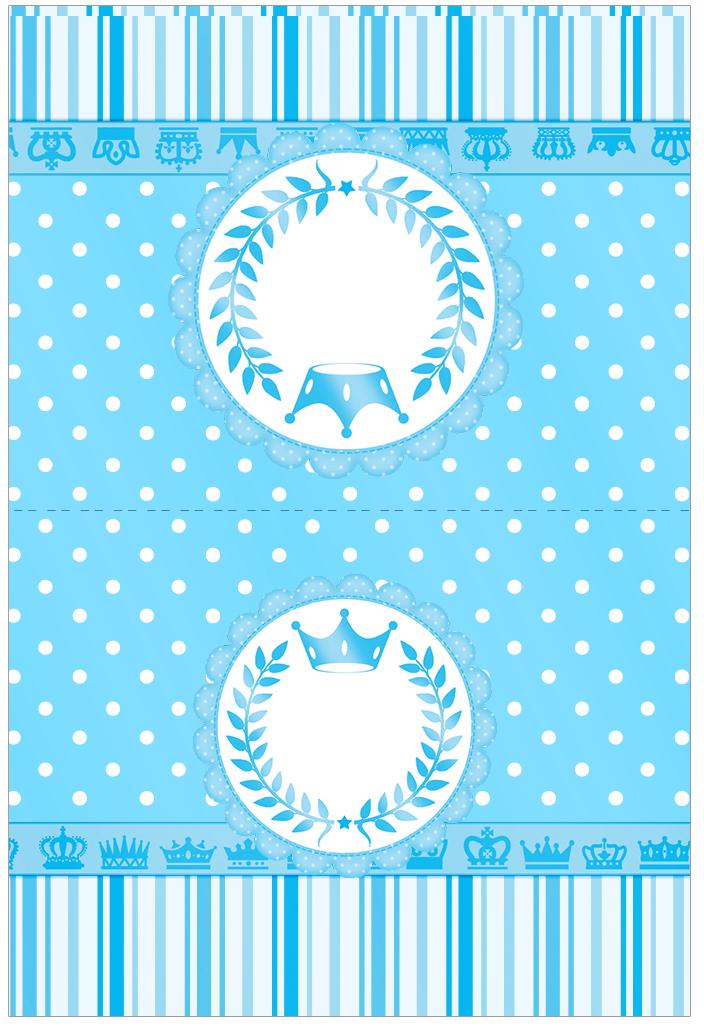 Cartão Agradecimento de Mesa Realeza Azul