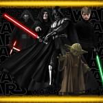 Cartão para festa Star Wars