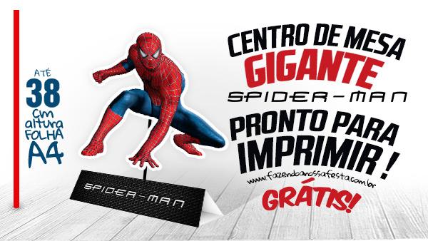 Centro De Mesa Homem Aranha Gratis Para Imprimir