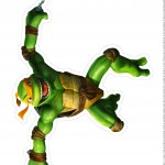 Centro de Mesa Tartarugas Ninjas Michelangelo Parte 1