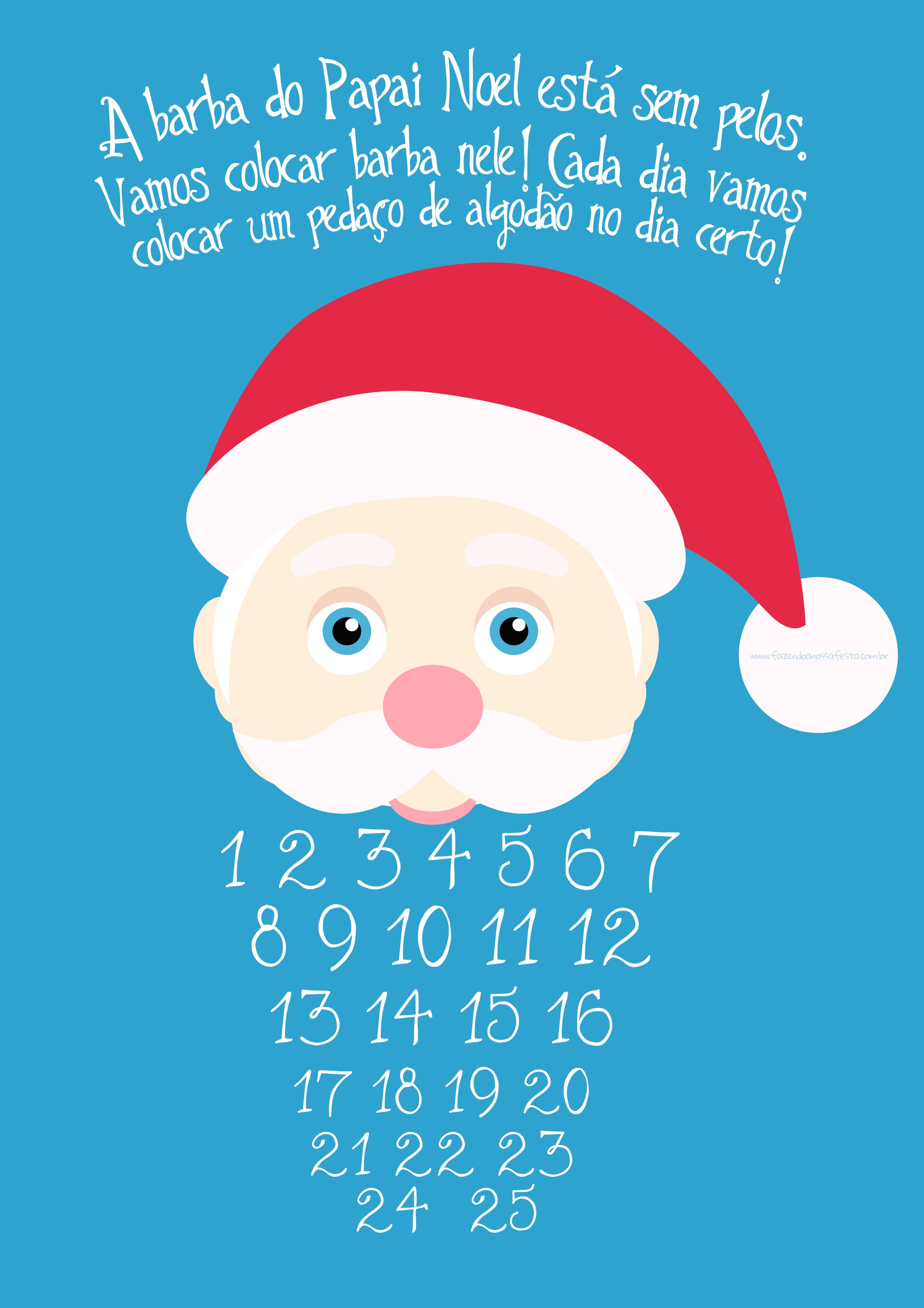 Contagem Regressiva para Natal Azul