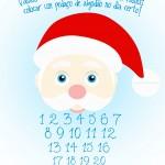 Contagem Regressiva para o Natal Azul Claro