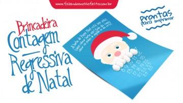 Contagem Regressiva para Natal - Barba Papai Noel
