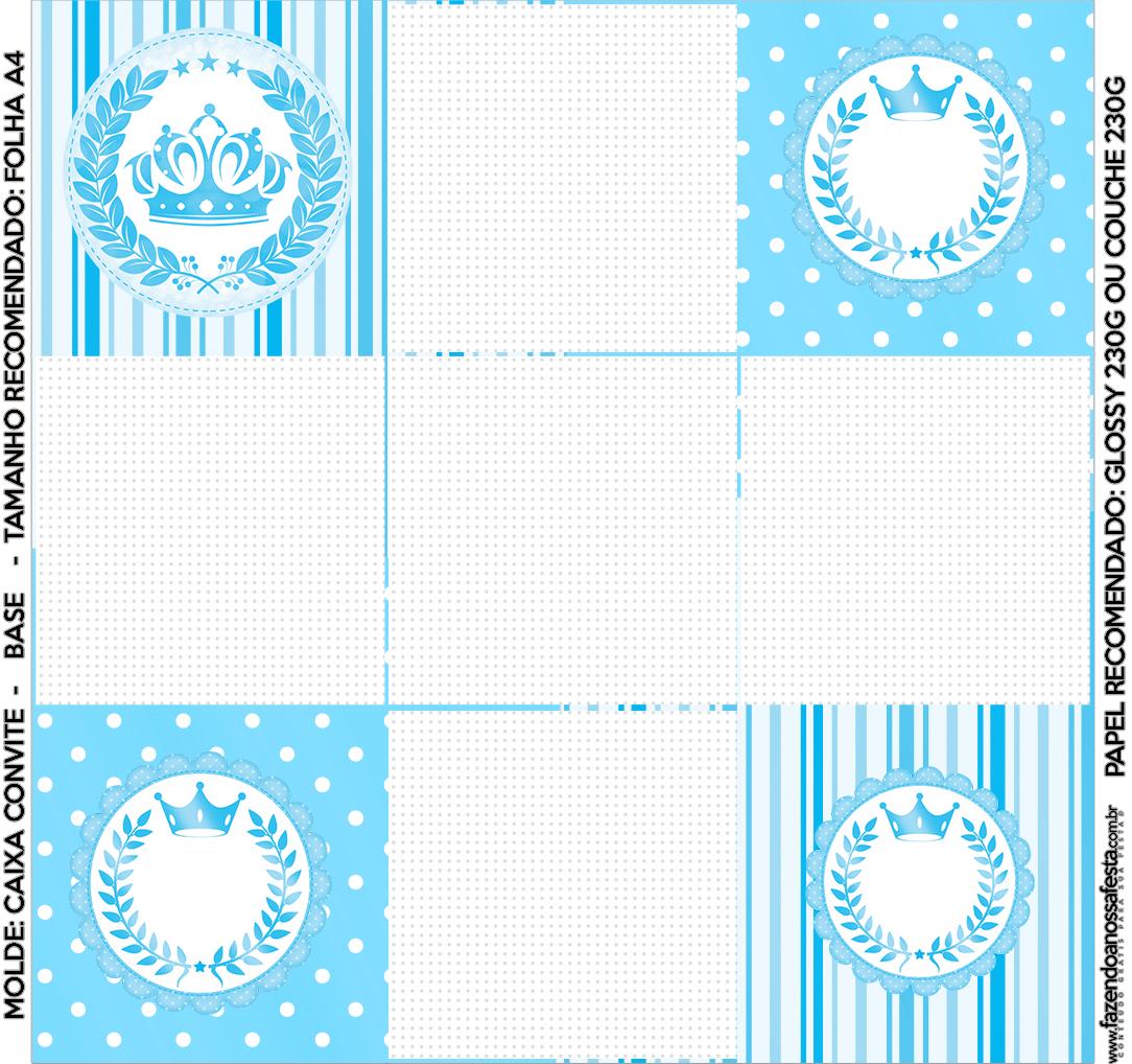 Convite Caixa Fundo Realeza Azul