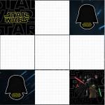 Convite Caixa Fundo Star Wars