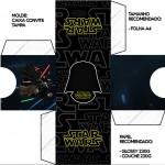 Convite Caixa Tampa Star Wars
