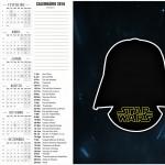 Convite Calendário 2016 2 Star Wars