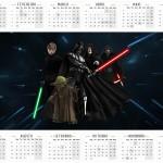 Convite Calendário 2016 Star Wars