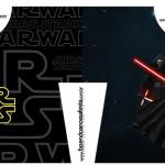 Convite Camisa Star Wars