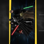 Convite Chalkboard Star Wars