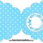 Convite Cupcake Realeza Azul
