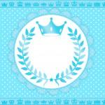 Convite Festa Realeza Azul