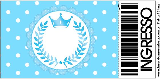 Convite Ingresso Realeza Azul