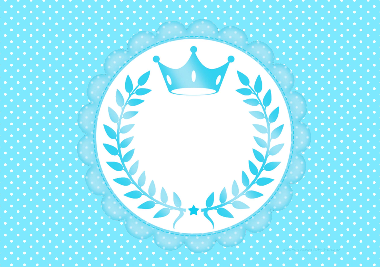 Convite Realeza Azul para meninos