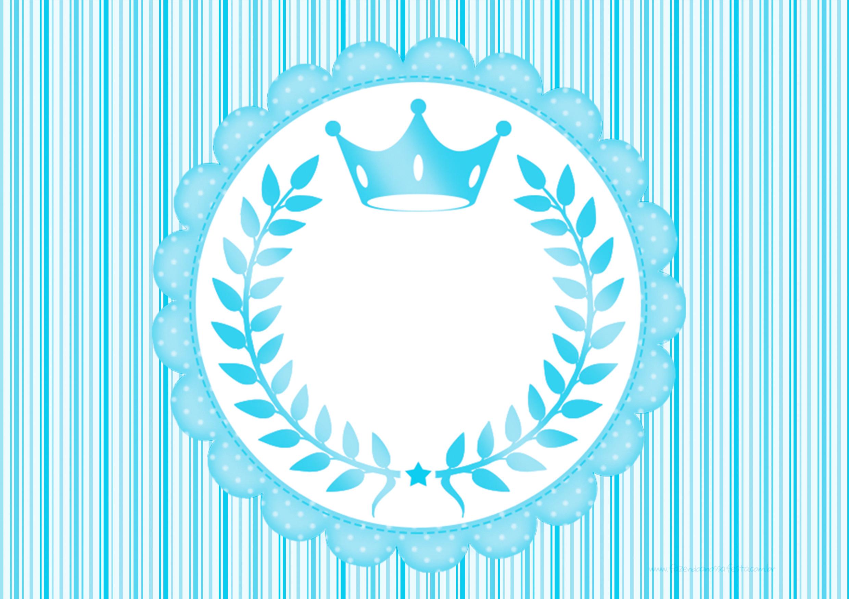 Convite Realeza Azul