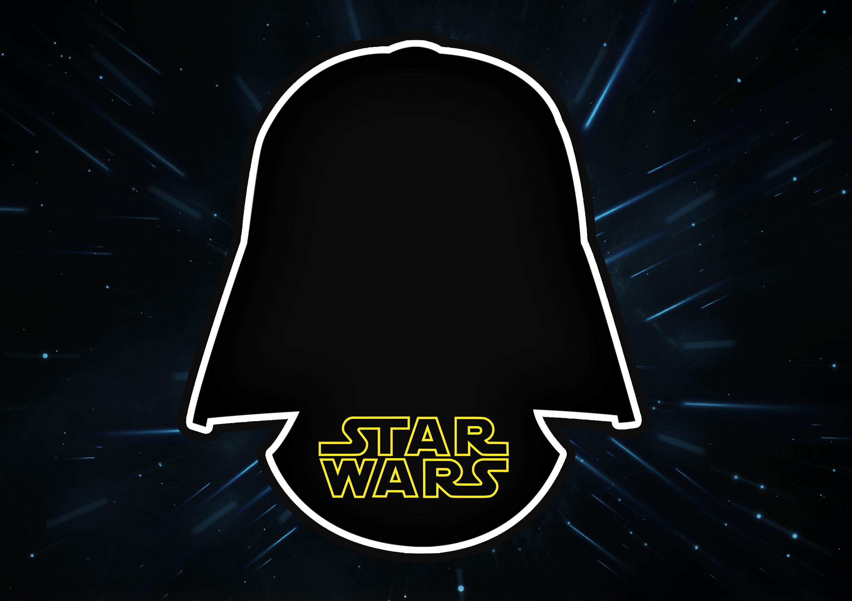 Convite Com Frame Star Wars Fazendo A Nossa Festa