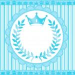 Convite para festa Realeza Azul