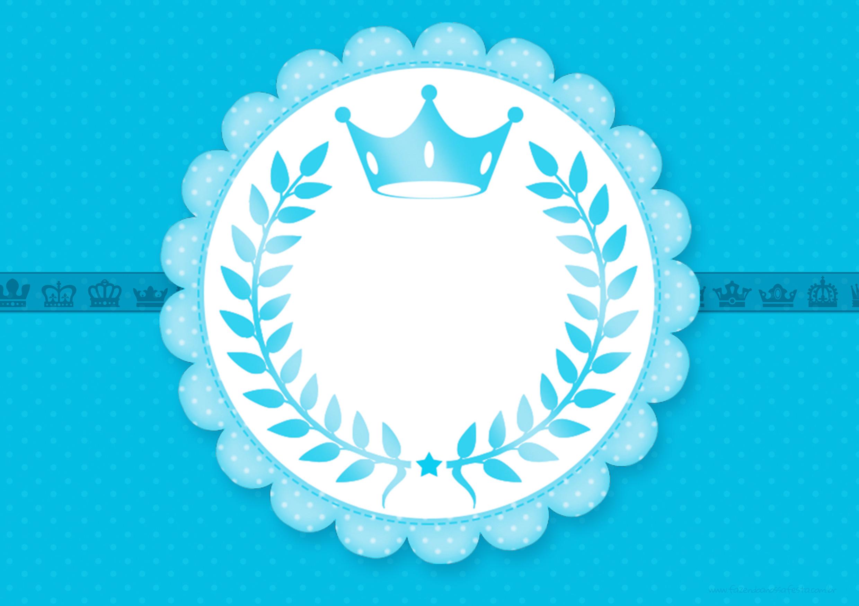 Convite para menino Realeza Azul