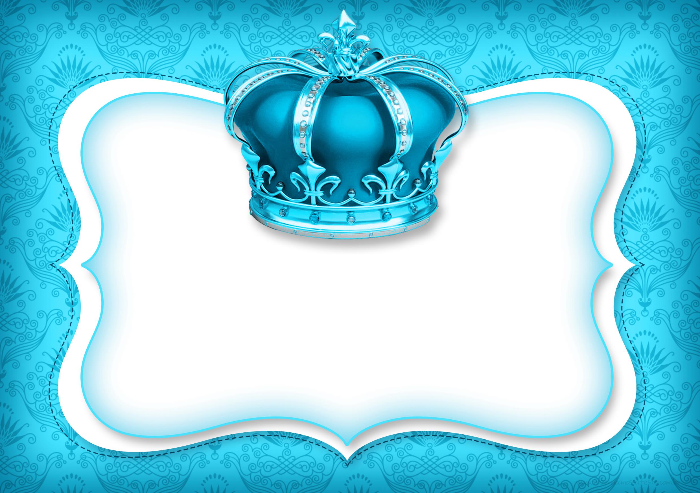 Convite Azul Realeza